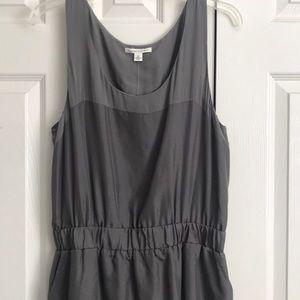 Gray 100% silk Banana Republic Holiday Dress